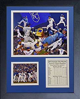 """Legends Never Die """"2014 Kansas City Royals ALCS Champions"""" Framed Photo Collage, 11 x 14-Inch"""