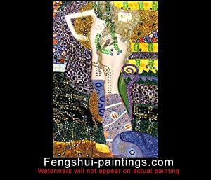 Art Deco Painting, Canvas Art Oil Painting c0385