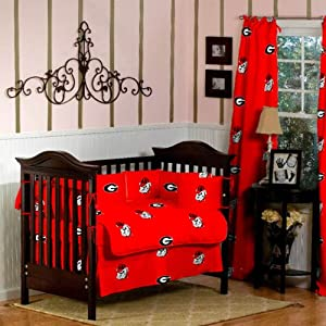 GEORGIA Bulldogs Baby Crib Bedding with Curtains - 9 Pc set