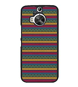 Vizagbeats Zigzag Pattern Back Case Cover for HTC One M9 PLUS