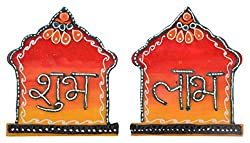 999Store handmade shubh labh diwali door hanging temple multicolour