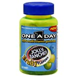 One A Day Multivitamin Gummies, Kids, With Jolly Rancher Fruity Flavors, 60 ct.