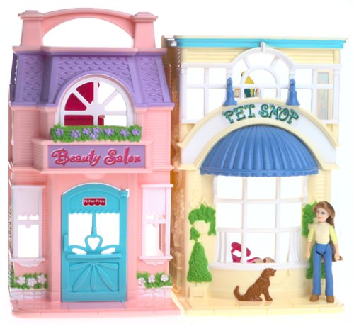 Loving Family Sweet Streets Pet Shop & Beauty Salon (Fisher Price Loving Family Pet compare prices)