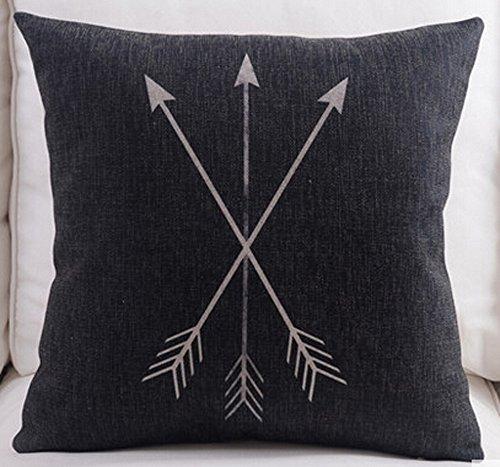 Feather Arrow Magic squares Cotton Linen Throw Pillow Case Cushion Cover Home Sofa Decorative 18 X 18 Inch (8)