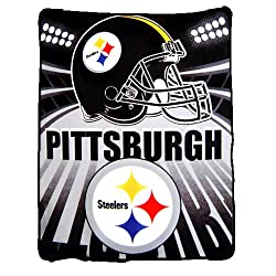 Pittsburgh Steelers Fleece Blanket/Throw - NFL Football