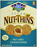 Blue Diamond Nut-Thins Cracker Snacks, Pecan, 4.25-Ounce Boxes (Pack of 12)