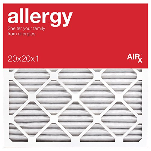 AiRx ALLERGY 20x20x1 Air Filters - Best for Allergy Protection - Box of 6 - Pleated 20x20x1 MERV 11 Air Filters, AC Filters, Furnace Filter - Energy Efficient