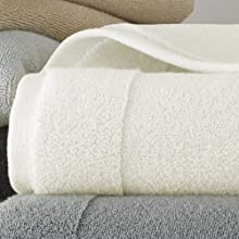 Kassatex Ducap Collection Towels Bath Sheet - Egg Shell