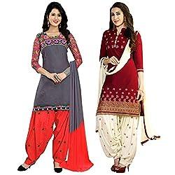 Ruaab Fashion Women Designer Dress Materials Combo(RF_AD_503)