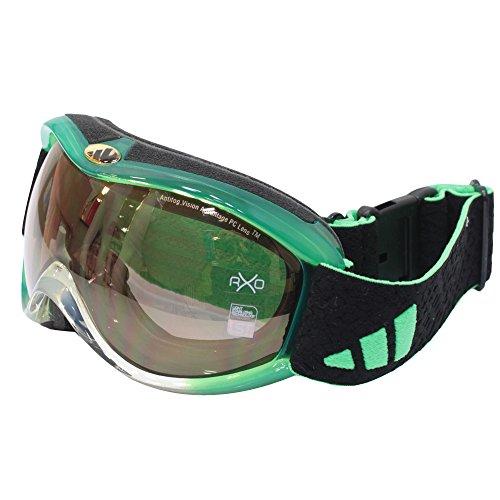 adidas(アディダス)【A13351】スキー スノーボード ゴーグル レディース YODAI グリーントランスペアレント6337 F
