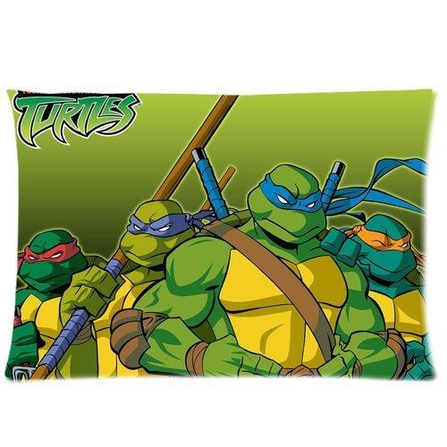 Generic Custom Teenage Mutant Ninja Turtles Printed Zippered Pillowcase Cushion Cover 20*30(Twin Sides) front-982773