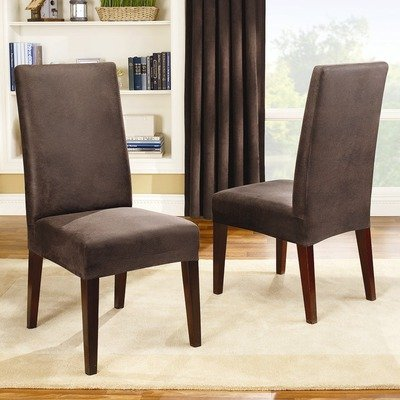 Sure Fit Stretch Leather Short Dinning Room Chair