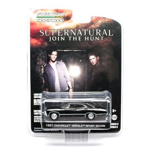 1967 CHEVROLET IMPALA SPORT SEDAN from the television show SUPERNATURAL Greenlight Collectibles 1:64 Scale * Hollywood Series 6 * Die Cast Vehicle - 1