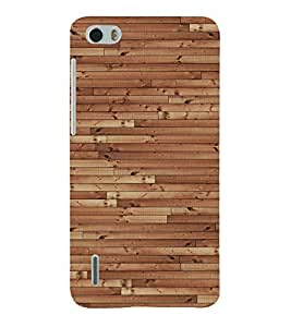 Classic Wooden Design 3D Hard Polycarbonate Designer Back Case Cover for Huawei Honor 6