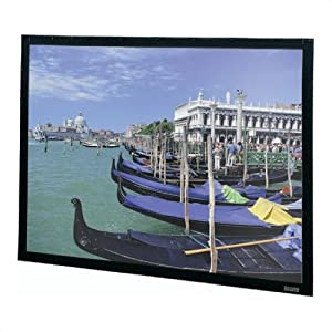 """Perm-Wall Pearlescent Fixed Frame Projection Screen Viewing Area: 58"""" H x 104"""" W"""