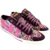 Womens Gola Quota Suede Low Top Petal Floral Metal Eyelet Trainers