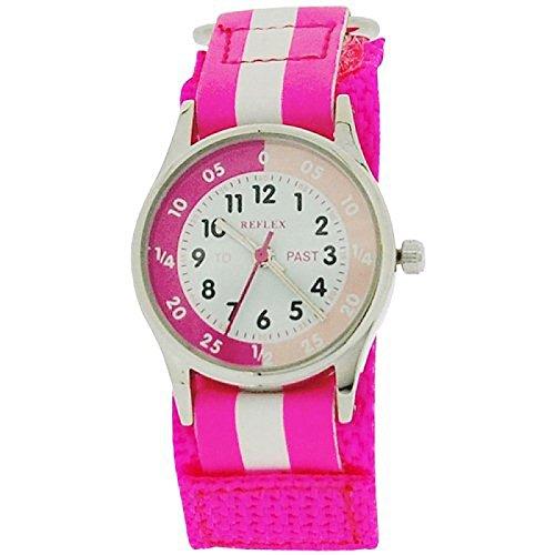 hot-pink-reflex-time-teacher-white-cinturino-con-chiusura-in-velcro-per-bambini-refk0006-orologio-da
