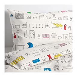 Ikea Duvet cover and pillowcase(s), multicolor, Twin