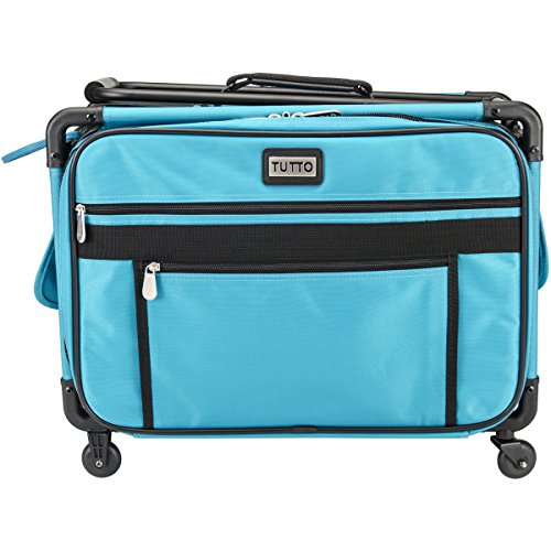 TUTTO Machine On Wheels Case-20X13X9 Turquoise (Sewing Machine Cart On Wheels compare prices)