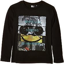 Rip Curl Montage T-Shirt manches longues Garçon Noir FR : 14 ans (Taille Fabricant : 14)