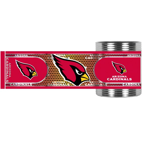 Nfl Arizona Cardinals Metallic Can Holder, Stainless Steel front-1085863