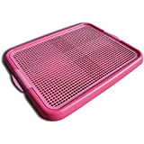 Klean Paws Puppy Pad Holder ● Keeps Paws Dry ● No Torn Pads ● Protects Floors ● Save Money (Spring Pink)