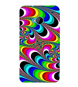 COLOURFULL TRADITIONAL ETHNIC PATTERN 3D Hard Polycarbonate Designer Back Case Cover for HTC One M7 :: HTC M7