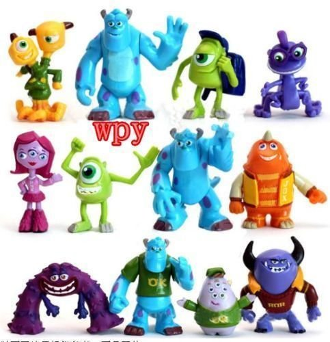 12 PCS Monsters Inc. Monsters University Mike Sully Action Figure Toy Loose (Monster Inc Figures compare prices)