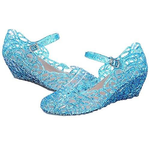 Girls' Sparkle Dress-up Costume Jelly Shoes - Frozen Elsa