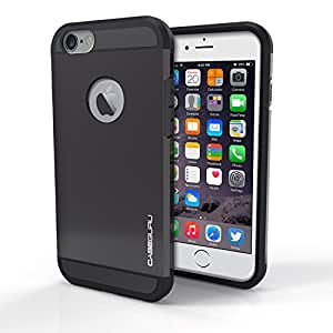 iPhone 6S Case, Caseguru Armor Guard Shockproof [HEAVY DUTY] Slim Fit Cover Case for iPhone 6 / iPhone 6S (4.7 inch) [Lifetime Warranty] - Scratch-proof - Defender Shield - Black