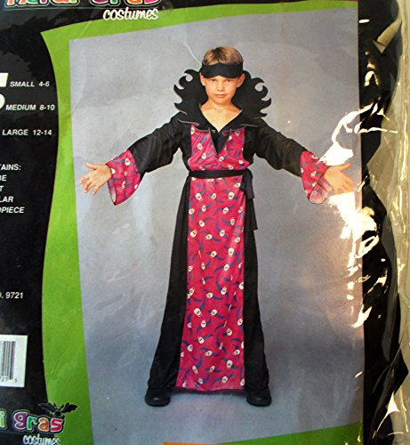 Warlock Witch Child Costume Robe Headpiece 12-14 NIP