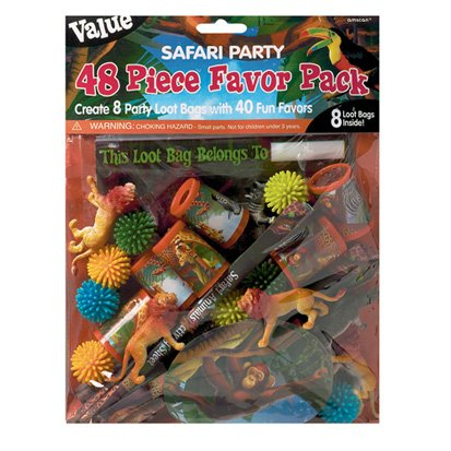 Jungle Safari Favor Value Pack with 48 pieces