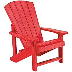 CR Plastic C0801 Generations Kids Adirondack Chair,Red
