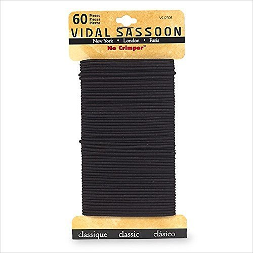 vidal-sassoon-medium-no-crimper-elastics-black-60-count-by-vidal-sassoon