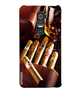 Omnam Bunch Of Cigar With Wine Glass Printed Designer Back Cover Case For LG G2