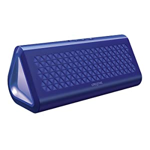 Creative Airwave Portable Wireless Bluetooth Speaker with NFC (Blue)