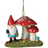 Storybook Garden Mini Gnome Red And White Polka Dot Mushroom Garden Christmas Ornament 3.5 By Midwest