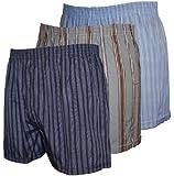 Mens WOVEN Printed Poly Cotton boxer shorts Underwear 6 PK