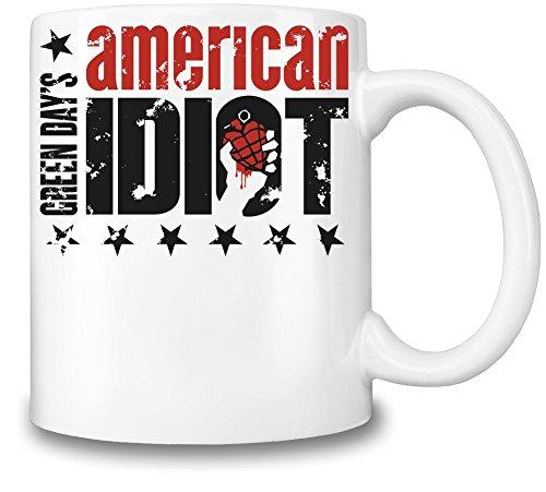 Green Day American Idiot Tazza Coffee Mug Ceramic Coffee Tea Beverage Kitchen Mugs By Genuine Fan Merchandise