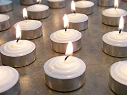 Bulk 100 Pack Tealight Wax Candles White - Wedding Centerpiece Decorations - Smokeless Genuine Vegetable Palm Oil Unscented