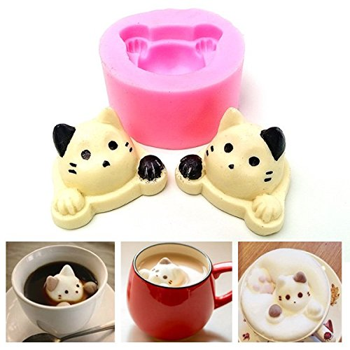 Bluelover 3D Silicone Mignon Cat Head Cake Forme Mold Outil De Décoration Fondant