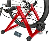 Magnetic 5 Levels Turbo Trainer Varied Speed Cycling Bike w Front Wheel Block, 3 Colors Optional, Healthline