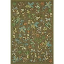 """Martha Stewart Rugs Grove Twig Floral Rug 3'9"""" x 5'9"""""""