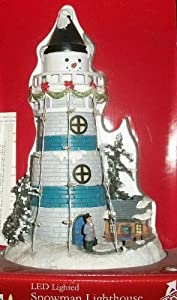 Led Snowman Lighthouse Lighted Christmas Village Scene