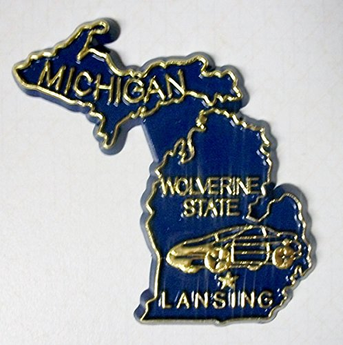 Michigan the Wolverine State Souvenir Fridge Magnet (Michigan Fridge Magnet compare prices)