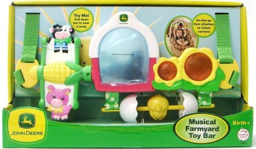john deere baby musical farmyard toy bar by learning curve car seat stroller toys. Black Bedroom Furniture Sets. Home Design Ideas