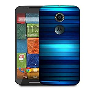 Snoogg Dark And Lite Blue Design Designer Protective Phone Back Case Cover For Moto X 2nd Generation