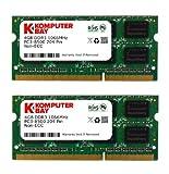 Komputerbay 8GB 2x 4GB DDR3 SODIMM 204 broches fait avec Hynix Semiconductors 1066Mhz PC3 8500 8 Go avec SODIMM dissipateur thermique pour le refroidissement supplémentaire