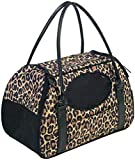 Gen7Pets Carry-Me Deluxe Cheetah Pet Carrier for Cats and Small Dogs, Medium