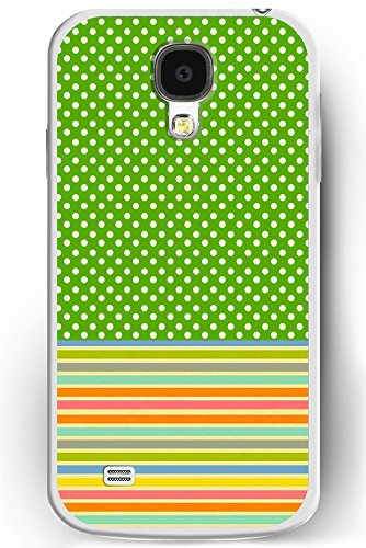 S4 Case, Samsung Galaxy S4 Case Slim Fit Hard Back Cover for Galaxy S4 Green Polka Dots and Colorful Lines (Pink 3d Melt Ice Cream Galaxy S4 compare prices)